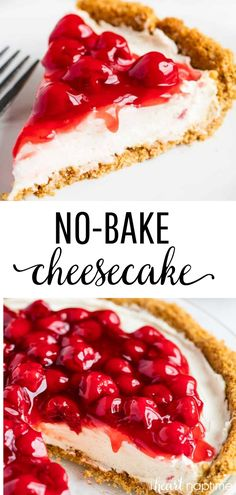 EASY No-Bake Cheesecake ingredients!) – I Heart Naptime This No-Bake Cheesecake Recipe is perfect for beginners! Only 5 ingredients and absolutely no baking. It's everything a cheesecake should be…silky, smooth, light, creamy and decadent! Easy No Bake Cheesecake, Chocolate Cheesecake Recipes, Baked Cheesecake Recipe, Homemade Cheesecake, Cheesecake Desserts, Snacks Sains, Salty Cake, Homemade Chocolate, Savoury Cake