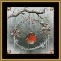 Christmas Wreath Mystic Stitch Cross Stitch Pattern