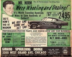 Mr. Norm and his Grand Spaulding Dodge