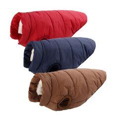 Casaco Acolchoado de Inverno Revestimento Morno do Velo do Filhote de Cachorro do animal de estimação e grande cão Gato Quente Colete Roupas com botão tamanho XS para 3XL