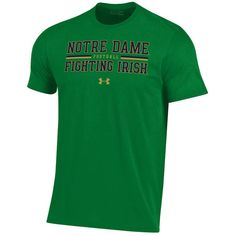 Notre Dame Fighting Irish Under Armour 2018 Sideline Football Performance T- Shirt – Kelly Green add2d1c90