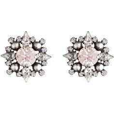 DANNIJO Alba ($195) ❤ liked on Polyvore featuring jewelry, earrings, dannijo earrings, swarovski crystal jewelry, dannijo, peach earrings and oxidized jewelry