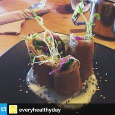 Buckwheat Crepe - vegan, gluten free. An Instagram favourite! Instagram by @Healthy EverydayMoms Buckwheat Crepes, Caramel Apples, Plant Based, Restaurants, Gluten Free, Vegan, Healthy, Desserts, Instagram