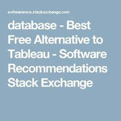 free tableau alternatives
