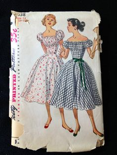 Hey, I found this really awesome Etsy listing at https://www.etsy.com/listing/150147159/vintage-pattern-simplicity-4638-bust-31