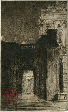 Waterloo Bridge Steps   1913 by Frederick Carter