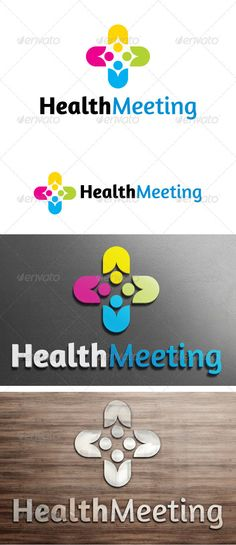 Health Meeting Logo by himoo Re sizable VectorEPSand AiPSD 9167 *5892 Color customizable Fully editable Free font used: http://www.fontsquirrel.com/fonts/amara