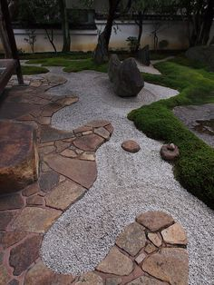 a little zen in the garden.