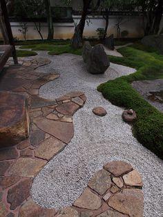 a little zen in the garden.