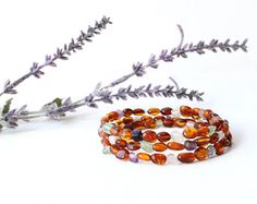 Amber Bracelet Fluorite Bracelet Amber by BeamingAmberSunLLC