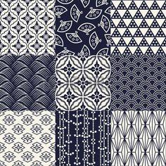 motif tissu japon: seamless pattern de maille traditionnelle japonaise