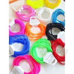 cute :3  @BornPrettyStore, 1Pc Shiny Bracelet Fluorescent Silicone Multi... at USD $2.19. http://www.bornprettystore.com/-p-10237.html