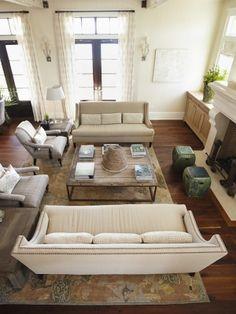 Arrange furniture.