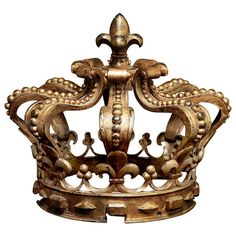 Beautiful & Unusual 19th Century French Bronze Crown | From a unique collection of antique and modern decorative objects at http://www.1stdibs.com/furniture/more-furniture-collectibles/decorative-objects/