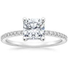 <3 Platinum Ballad Diamond Ring (1/4 ct. tw.) from Brilliant Earth. Top 5 choice. This with a 8mm stone and its perfect <3