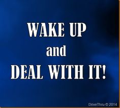 wake up and deal with it