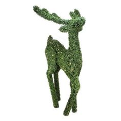 6' Pre-Lit Boxwood Standing Reindeer Christmas Yard Art Decoration - Warm White LED Lights
