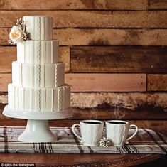 Forget naked cakes: Cable knit culinary creations are the newest trend in wedding cakes...