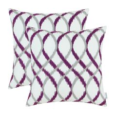 Amazon.com: Pack of 2 CaliTime Throw Pillow Covers, Modern Two-tone Waves Geometric, 18 X 18 Inches, Gray Deep Purple: Home & Kitchen