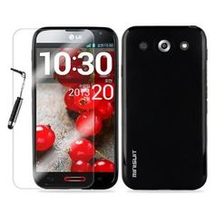 MiniSuit Bundle for LG Optimus G Pro - TPU Rubberized Case, Screen Protector, Stylus