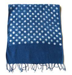 Dotty Indigo towel, or wear as scarf. $45