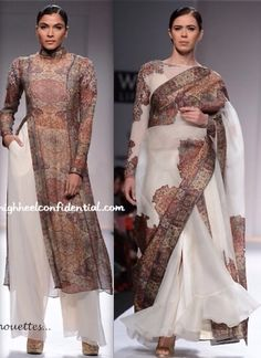 lakme fashion week 2014 by alyce Indian Dresses, Indian Outfits, Western Outfits, Indie Fashion, Asian Fashion, Indian Attire, Indian Wear, Beautiful Saree, Beautiful Dresses