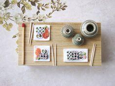 Miniature Food - Sushi Plates by PetitPlat - Stephanie Kilgast, via Flickr