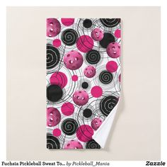 Fuchsia Pickleball Sweat Towel