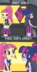 Size: 437x850 | Tagged: equestria girls, friendship games, human twilight, magic capture device, safe, screencap, sour patch kids, sour sweet, spoiler:friendship games, twilight sparkle