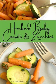 Herbed Baby Carrots with Zucchini is a quick and simple side dish. Filled with herbs and vegetables, it is a healthy recipe, making it a perfect side dish. Quick Side Dishes, Healthy Side Dishes, Sweet Baby Carrots, Oven Baked Salmon, Recipe Making, Mediterranean Spices, Healthy Sides, Vegetable Side Dishes, Fresh Herbs