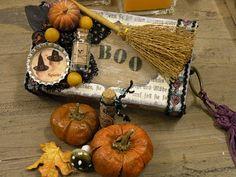 Halloween themed altered matchbox