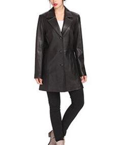 BGSD-Womens-Danielle-New-Zealand-Lambskin-Leather-Walking-Coat-0