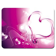 $7.49 - Soft Mouse Pad Neoprene Laptop Pc Mousepad Heart Pink Design 832 #ebay #Electronics