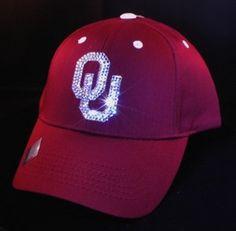 Oklahoma University Bling Womens Hat Swarovski by BabyWantsBling, $54.99