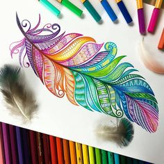 The Effective Pictures We Offer You About mandala art drawing A quality picture can tell you many things. Colorful Drawings, Tech Art, Art Drawings, Doodle Art, Mandala Design Art, Zentangle Drawings, Feather Drawing, Art, Sharpie Art