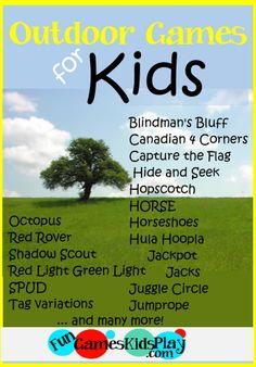Outdoor Kids Games