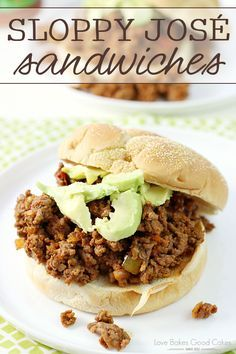 Kick up the flavor of dinner with these Sloppy José Sandwiches! They're perfect for game day, too!
