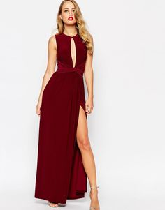 ASOS Cross Front Slinky Maxi Dress With Keyhole ($81) - gorgeous, but might need to close up the keyhole a bit :)
