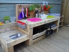 Our parent made this fab mud kitchen