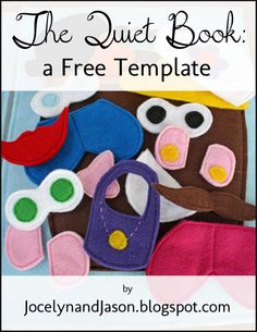 Sunshine, Lollipops, and Rainbows: Quiet Book Template  free