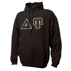 Campus Classics - On Sale! DU Black Hoodie with Sewn On Greek Letters: $38.95