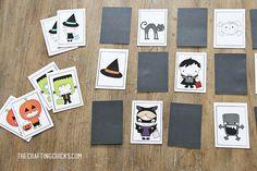 Halloween Memory Game via @craftingchicks