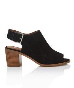 Heels - Mandy Suede Peep Toe - Shoes - Sportsgirl