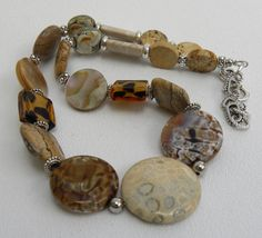 Jaffa Handmade Beaded Necklace by bdzzledbeadedjewelry on Etsy, $45.00