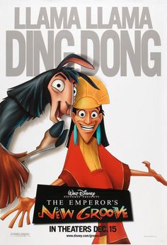The Emperor's New Groove Movie Poster ( of Animated Movie Posters, Disney Movie Posters, Disney Animated Movies, Cartoon Movies, Disney Films, Disney Crossovers, Film Posters, Disney Actual, Disney Love