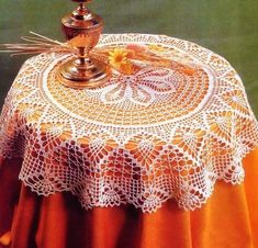 Crochet and arts: crochet Tablecloth Crochet Circles, Crochet Mandala, Crochet Art, Crochet Home, Love Crochet, Learn To Crochet, Vintage Crochet, Crochet Crafts, Crochet Projects