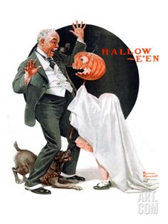 Halloween, October 23,1920 Giclee Print by Norman Rockwell at Art.com