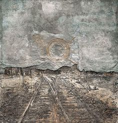 Anselm Kiefer is a German painter and sculptor. He studied with Joseph Beuys and Peter Dreher during the 1970s. His works incorporate materials such as straw, ash, clay, lead, and shellac.