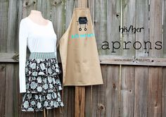 His and Her Aprons…….Last Minute Gift Idea?? | Make It and Love It