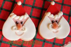 Tutorial: Christmas Cookies decorated - Decorations for cakes